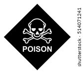 poison safety symbol. poison... | Shutterstock .eps vector #514071241
