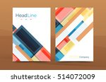 straight lines geometric... | Shutterstock . vector #514072009