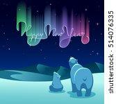 vector illustration   polar... | Shutterstock .eps vector #514076335
