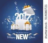 happy new year 2017 firework... | Shutterstock .eps vector #514080721