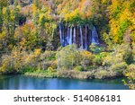 autum colors and waterfalls of... | Shutterstock . vector #514086181