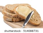 a knife spreading butter on... | Shutterstock . vector #514088731