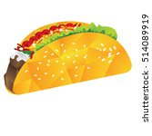 isolated geometrical taco  fast ... | Shutterstock .eps vector #514089919