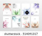 geometric background template... | Shutterstock .eps vector #514091317