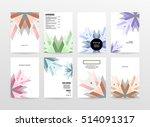 geometric background template... | Shutterstock .eps vector #514091317