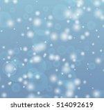 falling snow vector seamless...   Shutterstock .eps vector #514092619