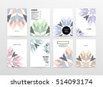 geometric background template... | Shutterstock .eps vector #514093174