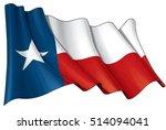vector illustration of a waving ... | Shutterstock .eps vector #514094041
