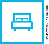 bed single linear icon for... | Shutterstock .eps vector #514094089