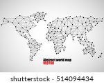 abstract world map of dots and... | Shutterstock .eps vector #514094434