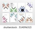 geometric background template... | Shutterstock .eps vector #514096315