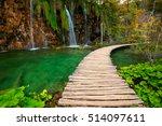 waterfalls of plitvice national ... | Shutterstock . vector #514097611