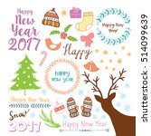 merry christmas and happy new... | Shutterstock .eps vector #514099639