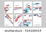 geometric background template... | Shutterstock .eps vector #514100419