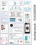 geometric background template... | Shutterstock .eps vector #514100539