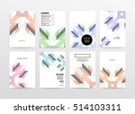 geometric background template... | Shutterstock .eps vector #514103311