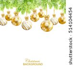 christmas background with gold  ... | Shutterstock .eps vector #514104454