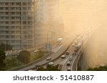 Air Pollution Scenic With Cars...