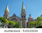 guadalajara cathedral  ... | Shutterstock . vector #514123234