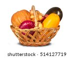 wicker basket filled with ripe...