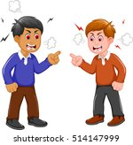 angry two men arguing