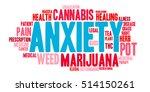 anxiety marijuana word cloud on ...   Shutterstock .eps vector #514150261