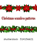 set of n seamless christmas... | Shutterstock .eps vector #514156621