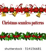 set of n seamless christmas... | Shutterstock .eps vector #514156681
