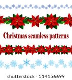 set of n seamless christmas... | Shutterstock .eps vector #514156699