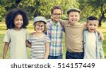 casual children cheerful cute... | Shutterstock . vector #514157449