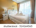 beautiful bedroom interior and...   Shutterstock . vector #514164565