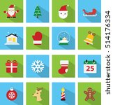 Collection Of Christmas Icons...