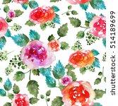 vintage floral seamless pattern ... | Shutterstock . vector #514189699