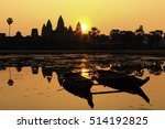 Silhouette Of Angkor Wat At...