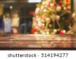 empty wooden table on a... | Shutterstock . vector #514194277