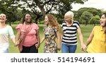 group of women socialize... | Shutterstock . vector #514194691