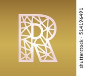initial monogram letter r. may... | Shutterstock .eps vector #514196491