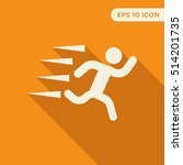 fast running person vector icon ...