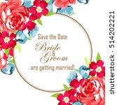 vintage delicate invitation... | Shutterstock .eps vector #514202221