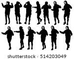 danser men in rap style on...   Shutterstock . vector #514203049
