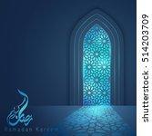 ramadan kareem islamic vector... | Shutterstock .eps vector #514203709