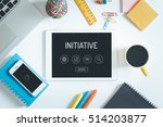 initiative concept on tablet pc ... | Shutterstock . vector #514203877