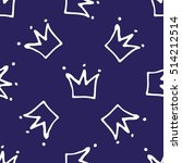 seamless pattern with crowns.... | Shutterstock .eps vector #514212514