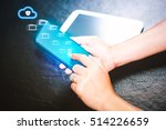 synchronization data from cloud ... | Shutterstock . vector #514226659