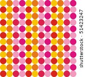 pattern from colored round... | Shutterstock .eps vector #51423247