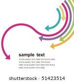 colored arrows vector | Shutterstock .eps vector #51423514