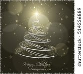 christmas tree on abstract... | Shutterstock .eps vector #514236889