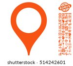 map pointer icon with bonus... | Shutterstock .eps vector #514242601