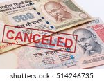 india canceled banknote. india... | Shutterstock . vector #514246735