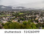 a high view of buildings in... | Shutterstock . vector #514260499